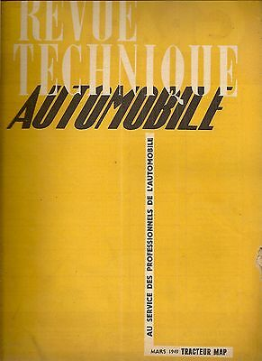 Revue Technique Automobile 35 Rta 1949 Etude Tracteur Map Dr3 Diesel