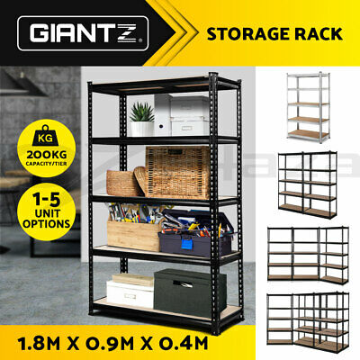 Giantz 1/2/3/5 0.9M Warehouse Shelving Garage Storage Racking Rack Shelves Shelf