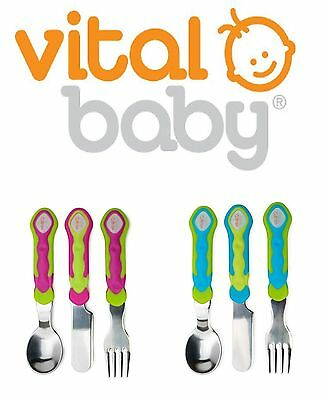 Baby Fork Knife Spoon Cutlery Set Toddler Food Feeding Vital 12m+