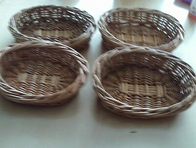 wicker gift baskets small oval x 4 low front high back