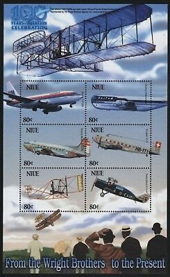 Niue 2003 - Mi-Nr. 986-991 ** - MNH - Flugzeuge / Airplanes