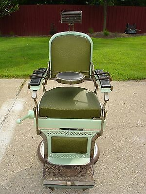 Antique Koken Barber Chair with Children's Booster Seat