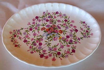 "Antique 1914 WS George Small Oval Serving Platter Bolero Fiesta 11 3/4"" x 8 3/4"""