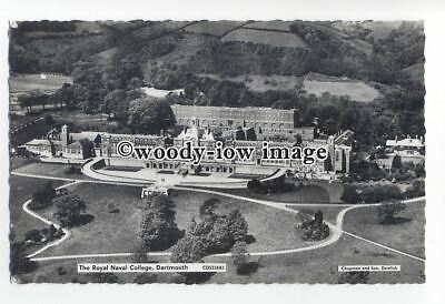 tq1854 - Devon - Aerial View of the Navel College, at Dartmouth - postcard