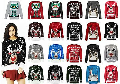 New Womens Ladies Mens Christmas Novelty Jumper Unisex Xmas Vintage Sweater