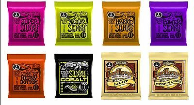 Ernie Ball 3 Sets PACK of Slinky Electric and Earthwood Acoustic Guitar Strings