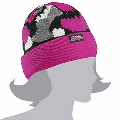Arctic Cat Youth Girl's Team Arctic Camo Beanie - Pink/Urban Camouflage 5253-175
