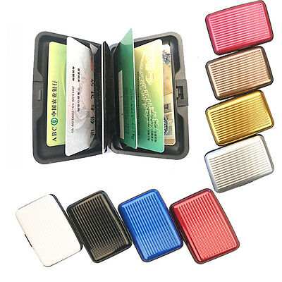 Aluminum Wallet RFID Blocking Pocket Holder Business Credit Card Case Purse