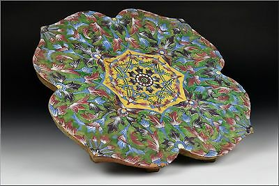 Important Large  17th / 18th Century Persian Enamel Pottery Tile