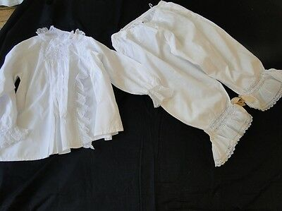 Rare 19Thc.victorian/edwardian Blouse And Bloomers W/lace ,ribbons