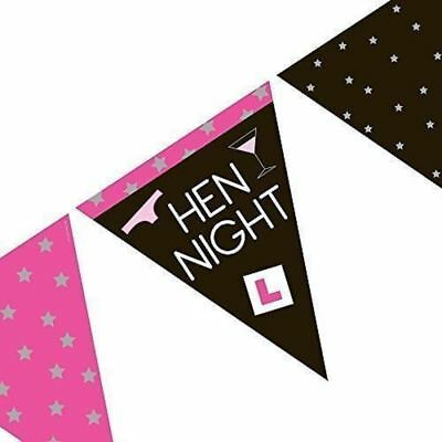 4 X Hen Party Girls Night Out Paper Flag Banner Bunting Decoration Bridal Shower
