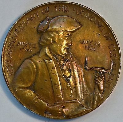 1796-1921 The 125th Anniversary of the Founding of Cleveland Bronze Medallion