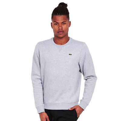 Lacoste - Brushed Fleece Sweater Silver Chine Pullover Rundhals