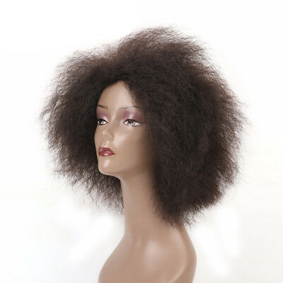 14.2 Inch Hair Synthetic Short Kinky Curly Afro Wig Super Fluffy Wigs for Women