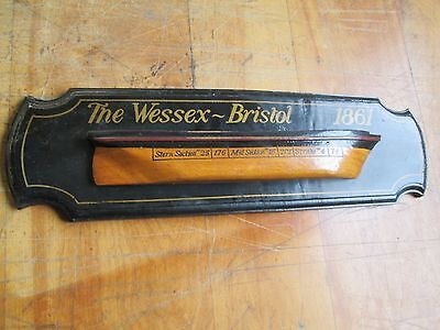 Vintage Ship Half Model  ( Wessex - Bristol )
