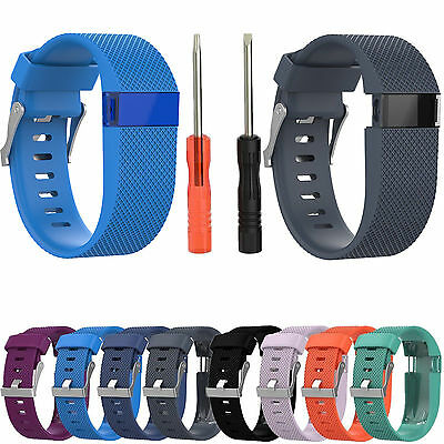 Replacement Silicone Rubber Strap Band Wrist Bracelet For Fitbit Charge HR AU