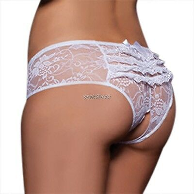 Women Ladies Sexy/Sissy Lace Panties Seamless Hollow Briefs Underwear Knickers