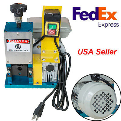 Motorized Scrap Cable Stripper Powered Electric Wire Stripping Machine+US Plug