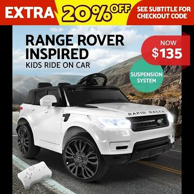 Electric KIDS Ride-On Car Range Rover Style Toys Battery Remote Music White