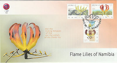 SWA/Namibia Flammenlilien Namibias. 2017 a. offiz. FDC Windhuk