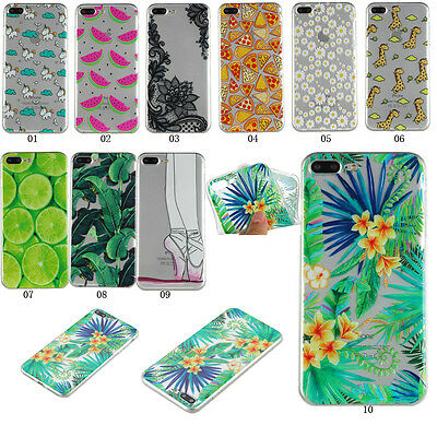 Patterned Transparent Ultra Thin Soft Rubber Gel Back Case Cover For Smart Phone