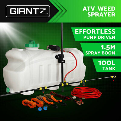 100L ATV WEED SPRAYER SPOT BOOM SPRAY TANK Chemical Garden Farm Water Pump PROMO