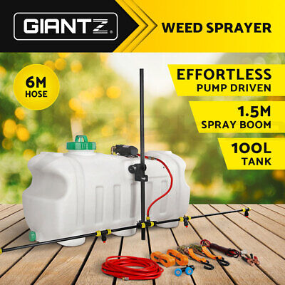 Giantz NEW 100L ATV WEED SPRAYER SPOT BOOM SPRAY TANK Chemical Garden Farm Water