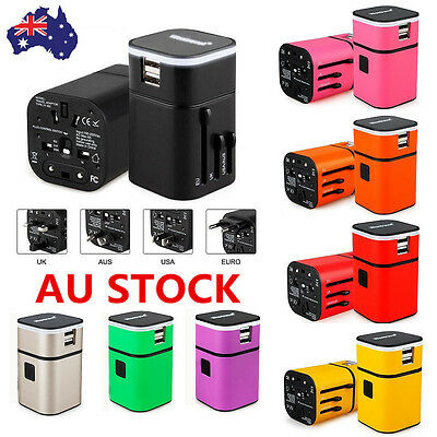 USB Universal Travel Adapter Power Plug Charger International World Converter