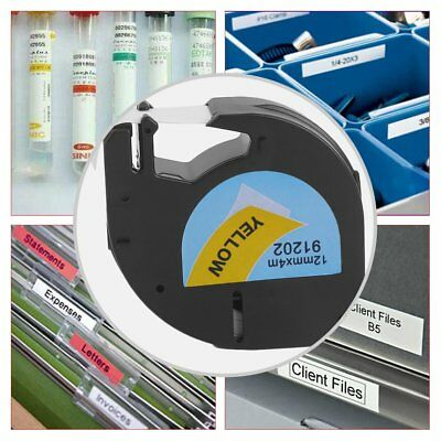 12*4MM Label Tape Great Stability Label Tag Tape Suitable For Dymo LetraTag GH