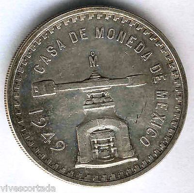 Mexico Only Oz 1949 SILVER Press @ EXCELLENT @