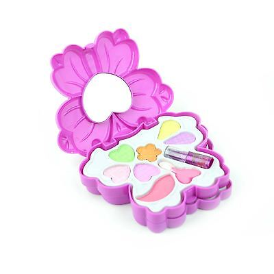 Make Up Kit Butterfly Case Kids Girls Pink Set Birthday Party Gifts Children Toy