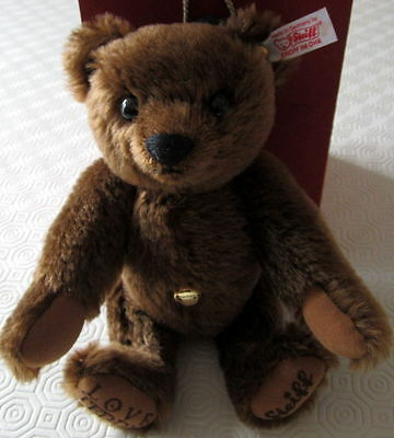 LIMITED CLUB EDITION Steiff LOVE BEAR Teddy 18 CT GOLD/Rubin-Anhänger Candielox
