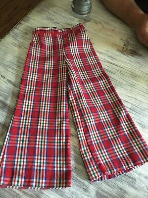 Vintage  Buster Brown High Waisted Plaid Bell Bottoms- Childs Sz 4