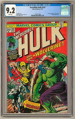 Incredible Hulk #181 CGC 9.2 (W) 1st appearance of Wolverine X-Men