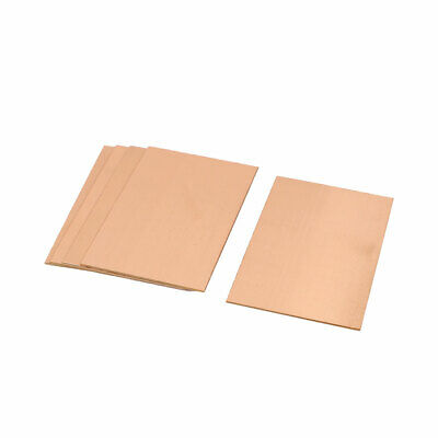 5Pcs 70 x 100 x 1.5mm FR-4 Single Side Copper Clad PCB Laminate Board