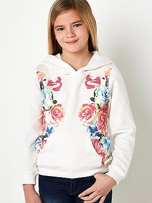 Girls Cream Floral Hoodie Various Ages 8 - 14 Free Postage