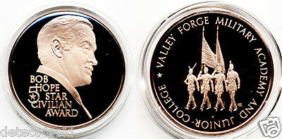 Bob Hope 5 Star Civilian Award Valley Forge Military Academy Bronze Coin Medal