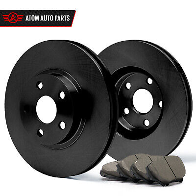 1996 1997 1998 Honda Civic EX Cpe (Black) OE Rotors Ceramic Pads F