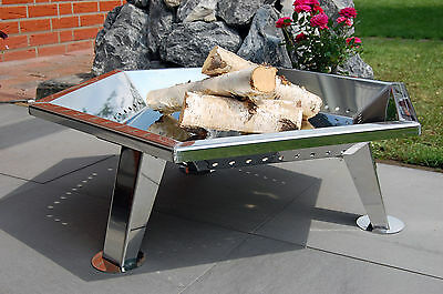 Design Fire Bowl WL500 MADE OF STAINLESS STEEL HEXAGONAL Hearth Grill Bowl
