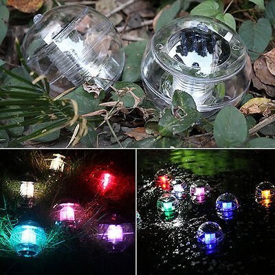 LED Solar Floating Light Water Swimming Pool Ball Multi Color Changing Lamp
