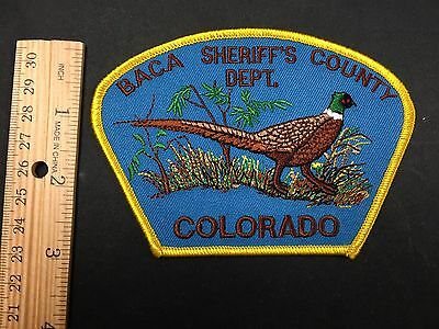 Baca Sheriff's County Colorado  Shoulder Patch