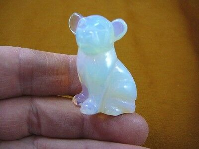 (Y-DOG-CH-560) white albino CHIHUAHUA Mexican baby dog figurine gemstone carving
