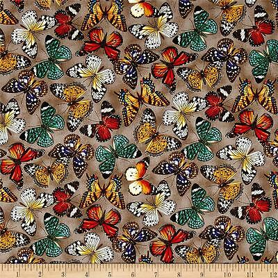 Fat Quarter Flying Sweetly Butterflies 100/% Cotton Quilting Fabric Purple