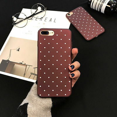 For iPhone 6 6s 7Plus Slim Shockproof Silicone Polka Dot Soft TPU Case Cover Hot
