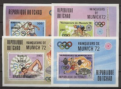 Olympiade 1972, Olympic Games - Tschad - 4 Bl. ** MNH