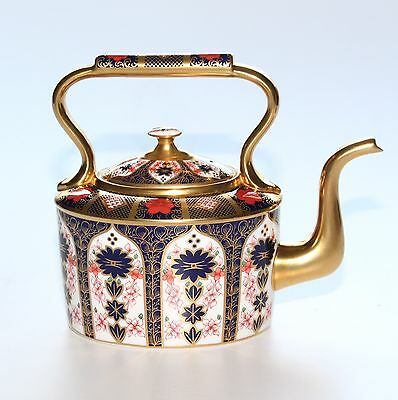 Royal Crown Derby, Imari 1128, Kettle, Solid Gold Band.
