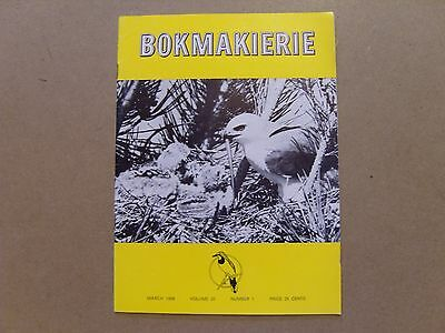 Bokmakierie Magazine - March 1968 - South African Ornithological Society