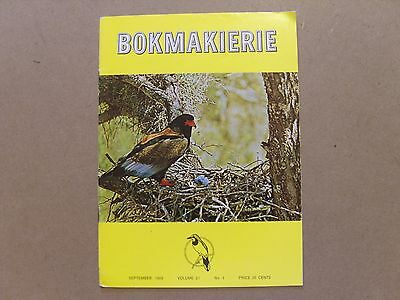 Bokmakierie Magazine - Sept 1969 - South African Ornithological Society + Supp