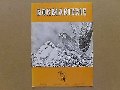 Bokmakierie Magazine - March 1971 - South African Ornithological Society