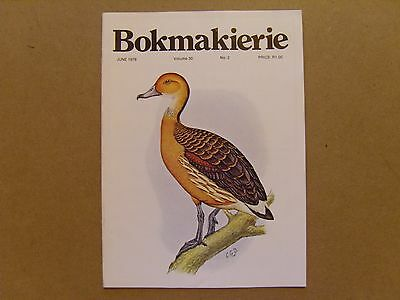 Bokmakierie Magazine - June 1978 - South African Ornithological Society
